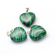 Heart Dyed Synthetic Malachite Pendants(X-G-Q371-02)-2