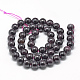 Natural Garnet Beads Strands(X-G-R446-8mm-31)-2