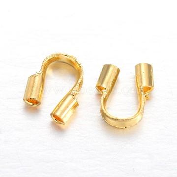 Brass Wire Guardians, Golden, 4.5x4x1.2mm, Hole: 0.5mm(KK-F371-87G)