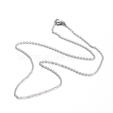 304 Stainless Steel Cable Chain Necklaces(NJEW-L418-01P)-2