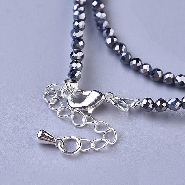 Terahertz Stone Beaded Necklaces(NJEW-K114-A-A22)-3