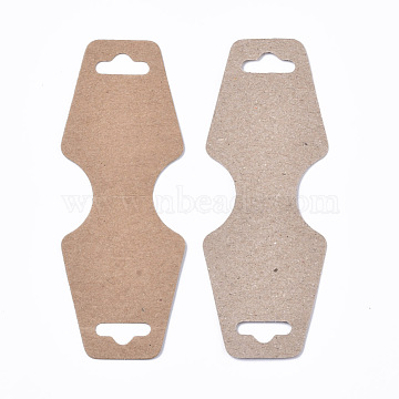 Cardboard Jewelry Display Cards, for Necklaces, Bracelets, Jewelry Hang Tags, Camel, 124x46x0.3mm(X-CDIS-Q001-26A)