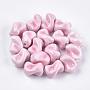 21mm Rose Twist Porcelaine Perles(X-PORC-S498-04A)