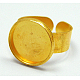 Cuff Brass Ring Shanks(X-UNKW-C2902-G)-1