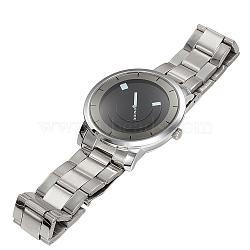 Бренд jaliei высококачественной нержавеющей стали кварцевые часы, цвет нержавеющей стали, 63 мм; голова часы: 40.5x46x12.5 мм; лицо часов: 35x35 мм.(WACH-N004-21)