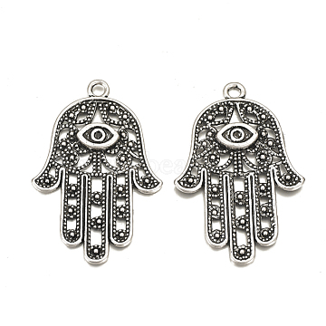 Thai Sterling Silver Plated Palm Alloy Pendants