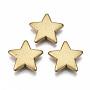 Goldenrod Star Acrylic Beads(X-ACRP-N002-25)