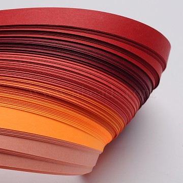 6 Colors Quilling Paper Strips, Gradual Red, 530x10mm; about 120strips/bag, 20strips/color(X-DIY-J001-10mm-A01)