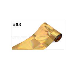 Feuille de transfert pour décoration d'art d'ongle, transfert feuille autocollant d'ongle, or, 120x4 cm(MRMJ-L005-G53)