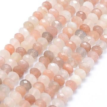 6mm Rondelle Sunstone Beads
