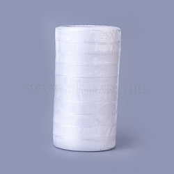 "Ruban d'organza, blanc, 5/8"" (15 mm); 50yards / roll (45.72m / roll), 10 rouleaux / groupe, 500yards / groupe (457.2m / groupe).(ORIB-15mm-Y001)"