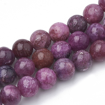 Synthetic Kunzite Beads Strands, Spodumene Beads, Round, 6~7mm, Hole: 1mm; about 62~68pcs/strand, 15.7inches(G-T103-06)