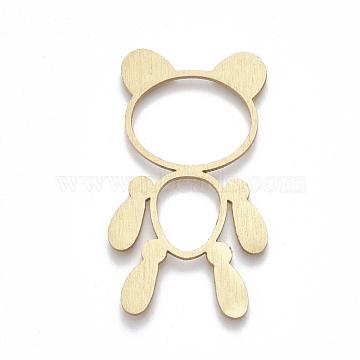 Aluminium Big Pendants, Laser Cut Big Pendants, Toy, Golden, 50x28x1mm(ALUM-T001-101G)