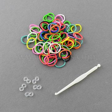 Горячие красочные станок комплекты резинки браслет для поделок заправки, Лучшее детям игрушки подарок, 110x100x22 мм(X-DIY-R001-01)