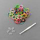 Hottest Colorful Loom Kits Rubber Bands Bracelet DIY Refills(X-DIY-R001-01)-1