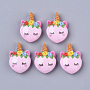 22mm Pink Horse Resin Cabochons(X-CRES-N018-036)