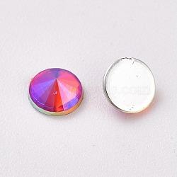 acrylique strass dos plat, ab couleur, cône, coloré, 4.5x2.5 mm; sur 100 PCs / sac(OACR-WH0003-05A-01)