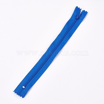 Garment Accessories, Nylon Closed-end Zipper, Zip-fastener Components, CornflowerBlue, 23.5~24x2.5cm(X-FIND-WH0009-A06)