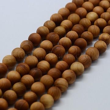 8mm Round Wood Beads