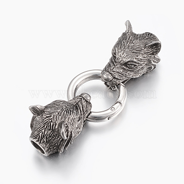 Antique Silver Stainless Steel Clasps