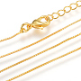 0.6mm Brass Necklaces(X-MAK-R014-G)