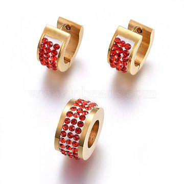Ring Stainless Steel Stud Earrings & Pendants