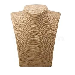 Tissé paille collier de corde affiche, tan, 280x215x125mm(NDIS-C003-2)
