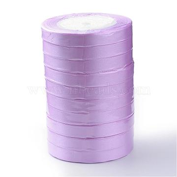 Single Face Satin Ribbon, Polyester Ribbon, Breast Cancer Pink Awareness Ribbon Making Materials, Valentines Day Gifts, Boxes Packages, MediumOrchid, 1/2inch(12mm); about 25yards/roll(22.86m/roll), 250yards/group(228.6m/group), 10rolls/group(RC12mmY-0113)