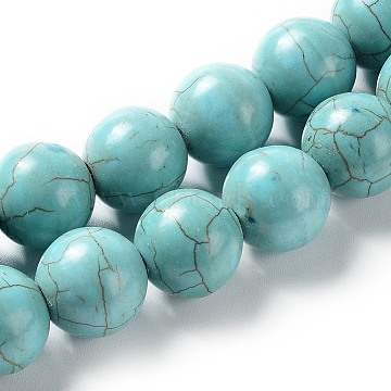 16mm Round Synthetic Turquoise Beads