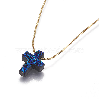 Brass Pendant Necklaces(NJEW-I105-06G)-2