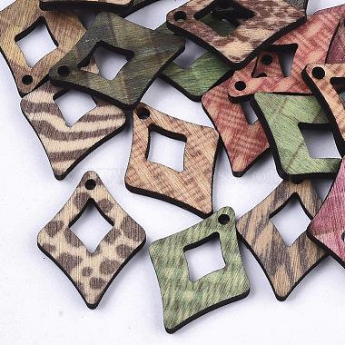 Printed Wood Pendants(X-WOOD-S667-017D)-2