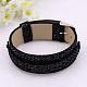 Snake Print PU Glittering Leather Watch Band Bracelets(X-BJEW-J031A-04)-1