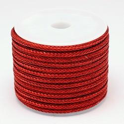 Câble de fil d'acier tressé, bricolage bijoux matériau de fabrication, rouge, 3 mm; 6 m / rouleau(OCOR-E009-3mm-05)