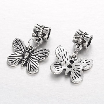 25mm Butterfly Alloy Dangle Beads