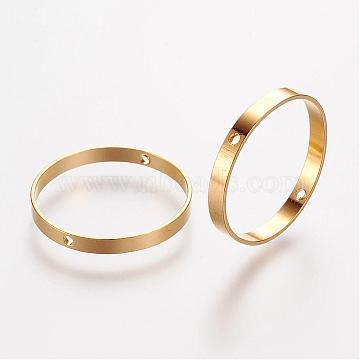 Brass Bead Frames, Ring, Golden, 20x2mm, Hole: 0.6mm(KK-F696-20mm-G)