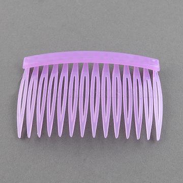 Plastic Hair Combs Findings, MediumOrchid, 46x70mm(PHAR-R018-7)