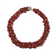 3-Layered Synthetic Coral Chip Beaded Necklaces(NJEW-S419-01E)-1