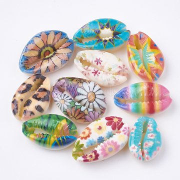 20mm Mixed Color Shell Cowrie Shell Beads