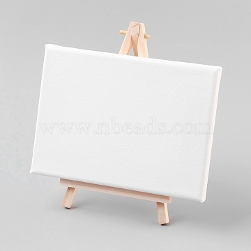 Folding Wooden Easel Sketchpad Settings, Kids Learning Education Toys, Rectangle, White, 18x13x1.6cm, 20x12cm(DIY-WH0077-C03)