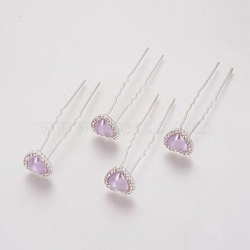 Silver Lilac Acrylic Hair Forks