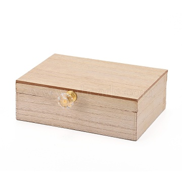 Rectangle Mr and Mrs Wooden Rustic Wedding Double Ring Box, with Burlap Pillow Lining, Wedding Decor for Ceremony, BurlyWood, 15.3x13.2x5.1cm(OBOX-K002-01)