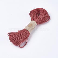Corde de chanvre, chaîne de chanvre, ficelle de chanvre, pour la fabrication de bijoux, rouge, 1.5~2 mm; 10 m / bundle(OCOR-WH0037-02E)