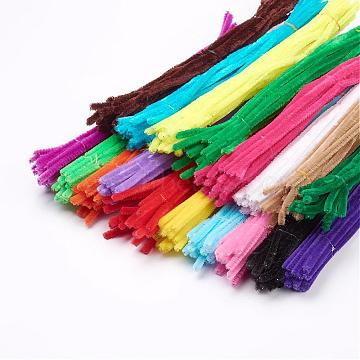 11.8 inches Christmas Tinsel Decoration DIY Chenille Stem Tinsel Garland Craft Wire, Mixed Color, 300x5mm(AJEW-JP0002-01M)