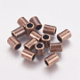 Tibetan Style Alloy Beads, Column, Red Copper, Lead Free & Cadmium Free, 8x6mm, Hole: 4mm