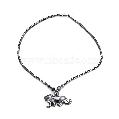 Non-magnetic Synthetic Hematite Necklaces(NJEW-G331-03)-2