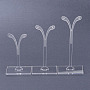 Clear Plastic Earring Stands(X-A2CEC021)