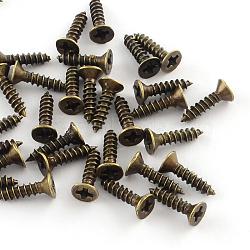 Accessoires de vis en fer, bronze antique, broche: 2.5 mm; 10x4 mm(X-IFIN-R203-32AB)