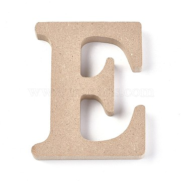 Letter Unfinished Wood Slices, Laser Cut Wood Shapes, for DIY Painting Ornament Christmas Home Decor Pendants, Letter.E, 100x81.5x15mm(DIY-WH0162-62E)