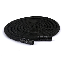 Polyester Drawstring Cord, For Garment Accessories, Black, 1300x5mm(X-AJEW-WH0043-09)