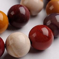 """Mookaite naturelle brins de pierres précieuses perles rondes, 12mm, trou: 1mm; environ 33 pcs/chapelet, 14.9""""(G-J333-06-12mm)"""